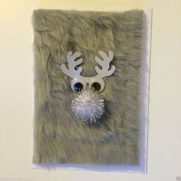 Handmade Furry Reindeer Christmas Card Sven in Home, Furniture & DIY, Celebrations & Occasions, Cards & Stationery | eBay