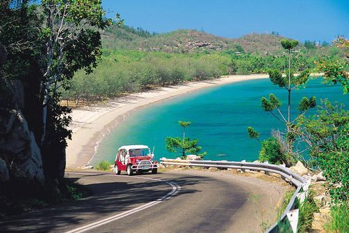 An island moke (beach buggy) is a fun way to get around on Magnetic Island. #TownsvilleShines