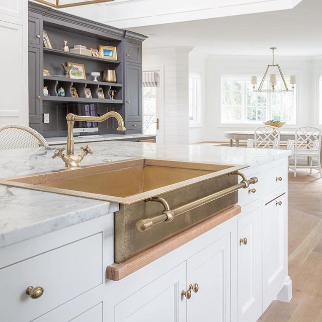What S Not To Love About A Brass Farmhouse Sink Via