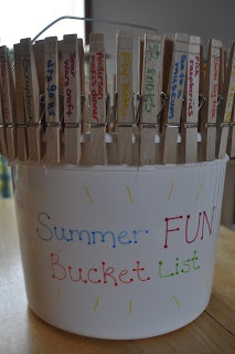 Summer Fun Bucket List