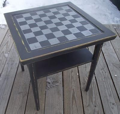 DIY Crafts DIY Checkered : DIY Checkerboard side table