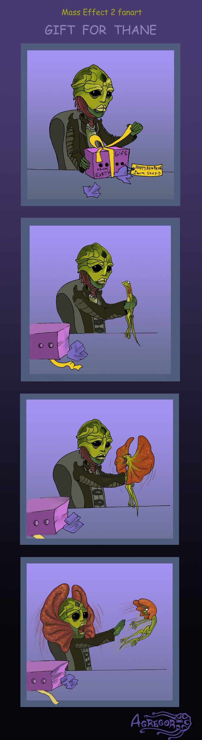 Mass Effect 2, Gift for Thane by *Agregor on deviantART this made me laugh