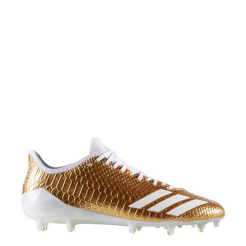 Adidas Men's Adizero 5-Star 6.0 Gold Football Cleats (Gold Metallic/Footwear White, Size 12) - Football Shoes at Academy Sports