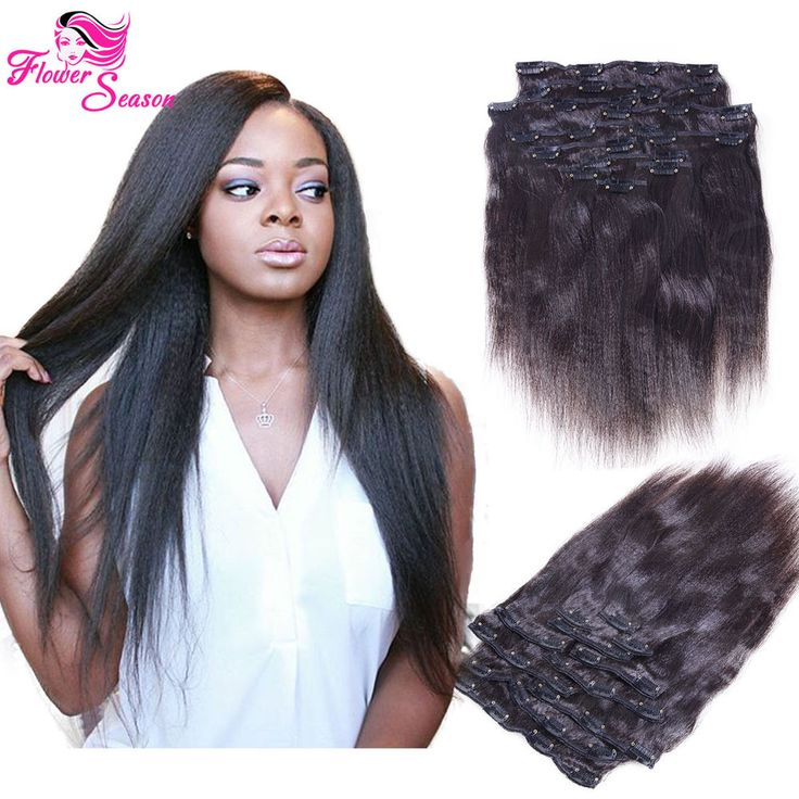 13 best luffywighair clip in hair extension images on pinterest italian yaki clip in human hair extensions light yaki straight full head set in health beauty hair care styling hair extensions wigs pmusecretfo Images