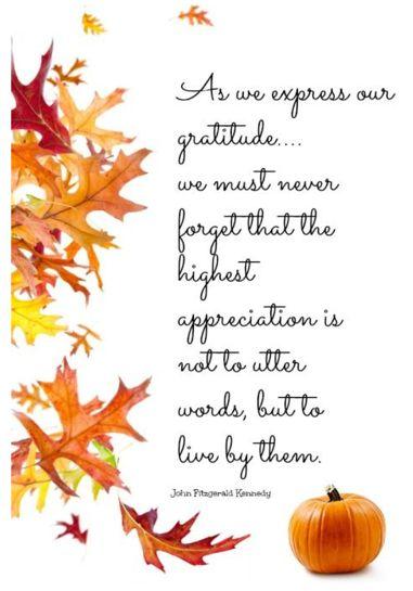 Gratitude — I never knew JFK said this. Powerful.