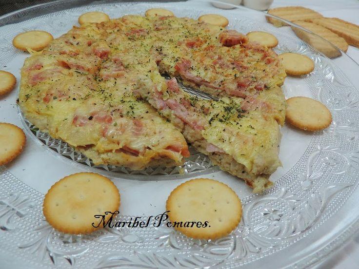 Pizza con masa de coliflor y atún, apta #dukan desde Crucero (eso si, cambiando el atún en aceite por atún al natural o en escabeche blanco)