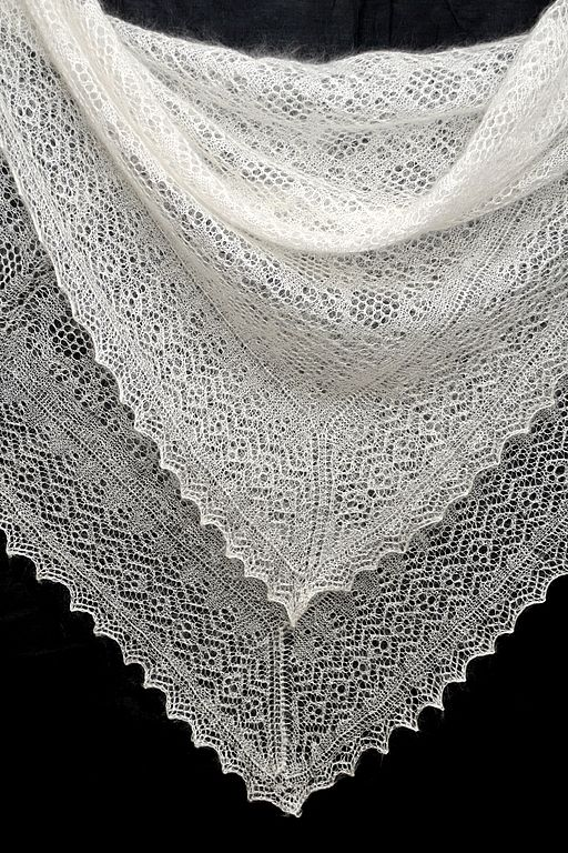 Russian Orenburg shawl. Little bit grannylike but beautiful!