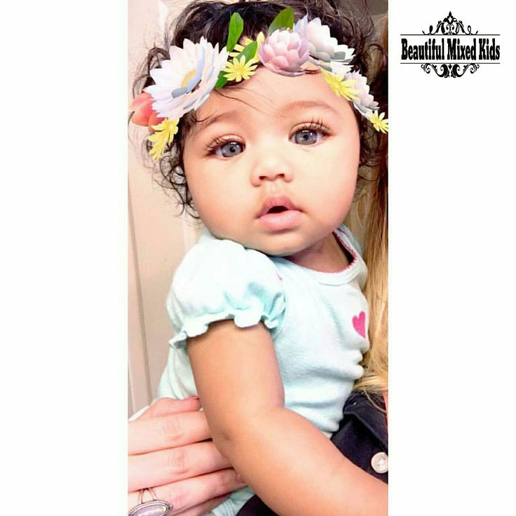 Kinsley - 5 Months • Caucasian & African American ❤ FOLLOW @beautifulmixedkids on instagram
