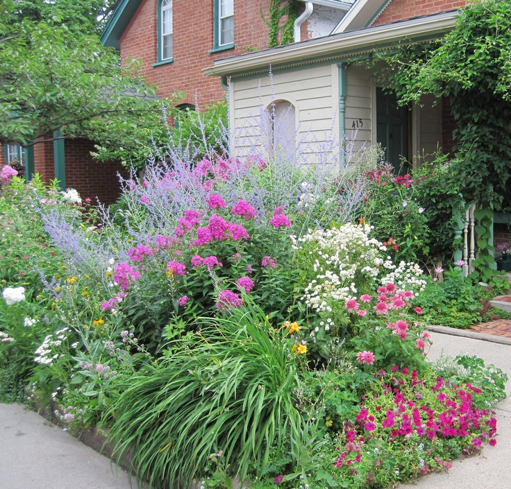 "Fill that pesky sidewalk planting strip (aka ""hell strip"") with tough, drought-tolerant perennials"