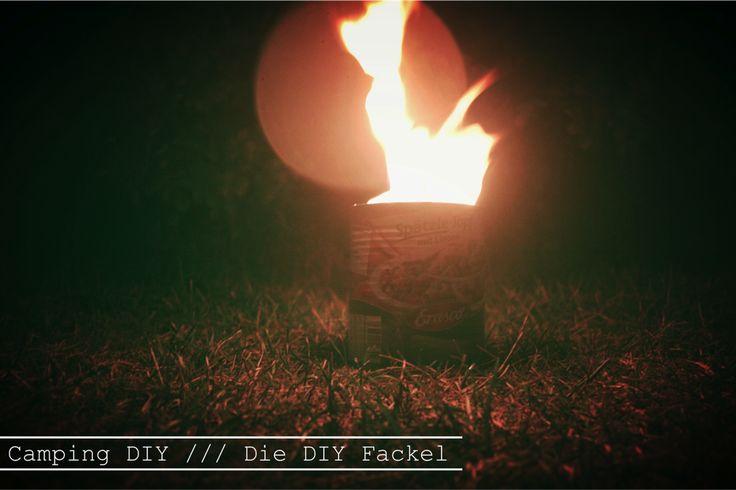 Cruising Campers Blog /// Ich liebe Fackeln, aber ich hasse den bunten hässlichen Kerzenwachs den die meisten fackeln zurücklassen. Daher baue ich mir meine Fackel für gemütliche Camperstunden im Fackelschein lieber selber. Ich zeig euch wie das geht...