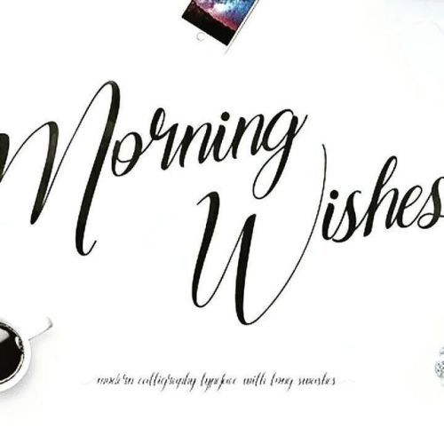 designeour:    Morning Wishes by Maulana Creative #fonts #design...