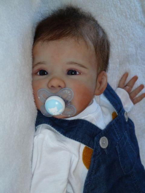 Soft Silicone Dolls Boy Bebe Real Life Newborn Reborn Toddler Boy Dolls Blue Eye