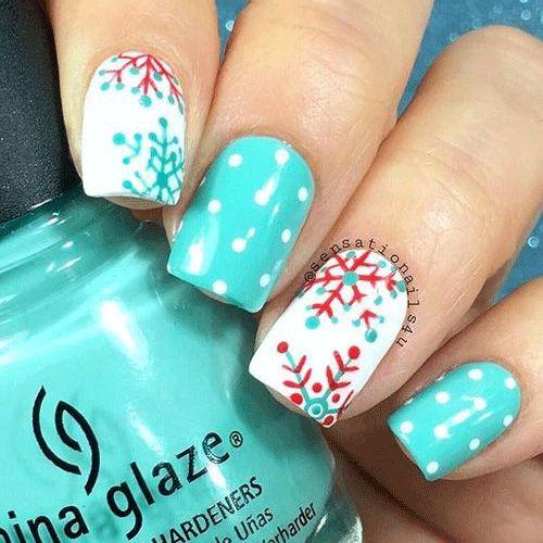 58 best easy winter nail art images on pinterest acrylics easy winter nail art prinsesfo Image collections