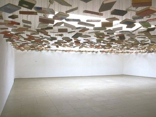 Flying books by Richard Wentworth