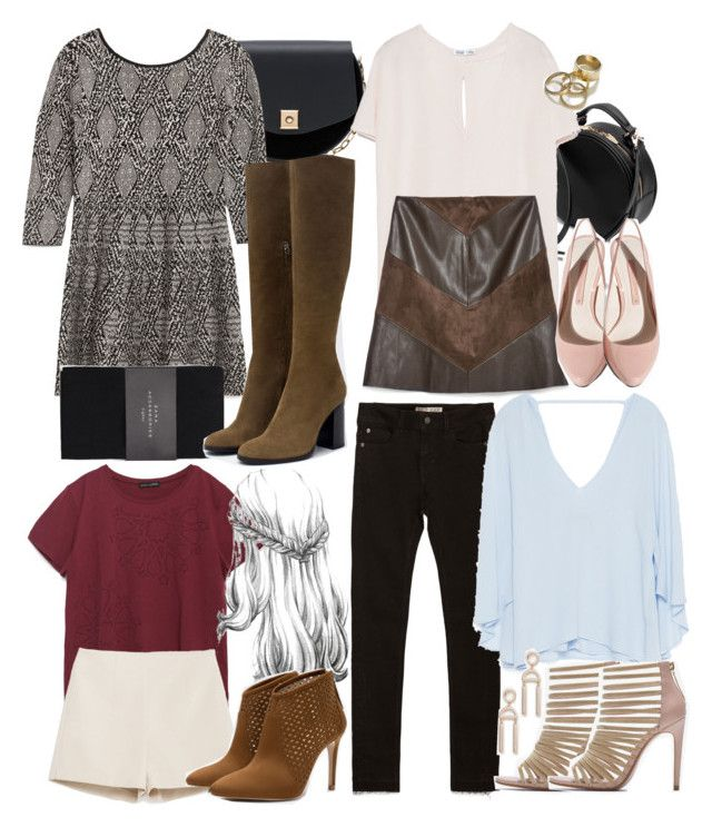 """Lydia Inspired Zara Outfits"" by veterization ❤ liked on Polyvore featuring Zara"
