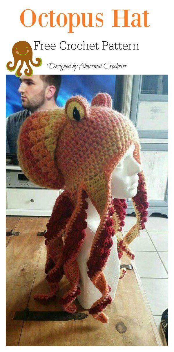 Octopus Hat Free Crochet Pattern | Crochet | Pinterest | Gorros ...