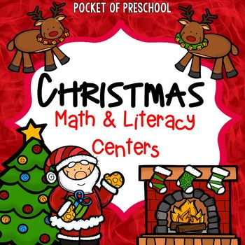 Christmas centers are loaded with fun, hands on activities to help your students build math and literacy concepts! Literacy skills covered are letter identification, rhyming, beginning sounds, vocabulary words, sight words, writing friendly letters, and writing/journaling.