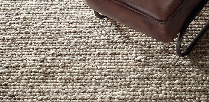 Chunky Braided Wool Rug Restoration Hardware Interior