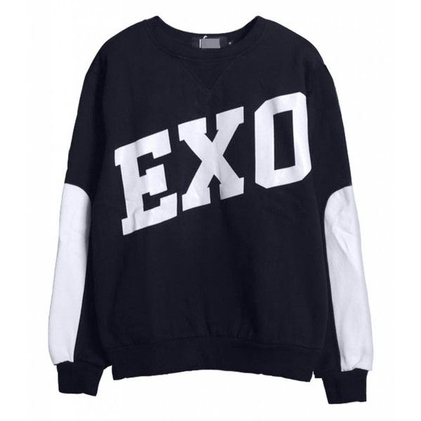 KPOP EXO SBS Gayo Daejun Daejeon Sweater EXO-M EXO-K Hoodies (960 RUB) ❤ liked on Polyvore featuring tops, kpop, sweaters, exo, shirts, blue top, blue shirt and shirt top