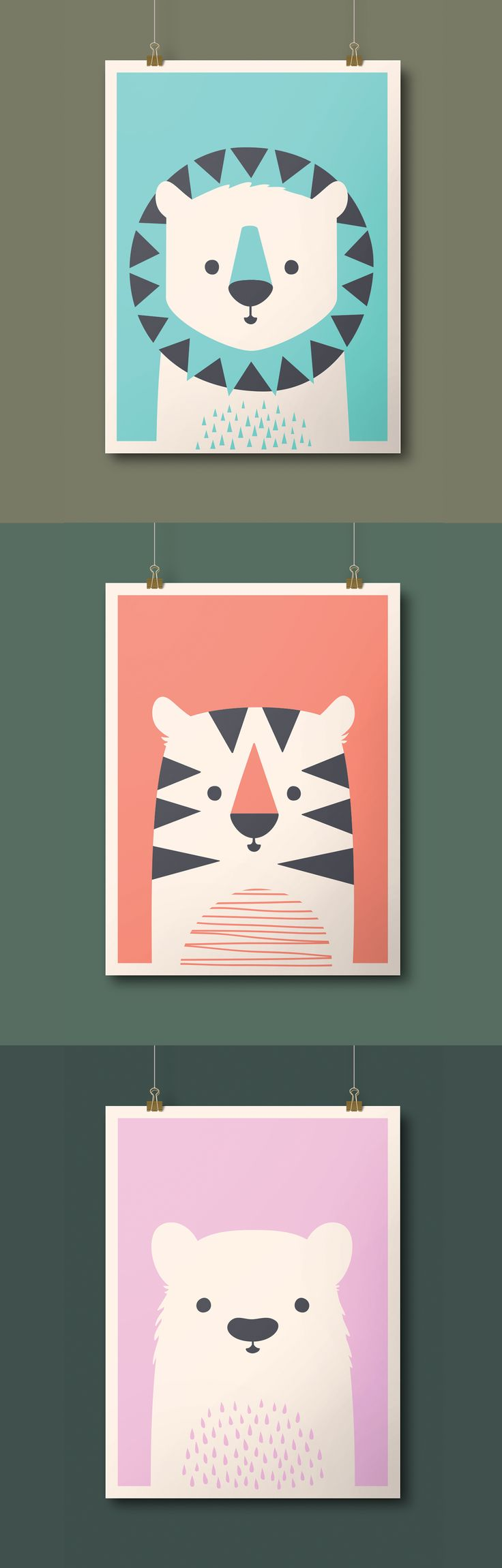 Animal Prints by Imaginary Beast for sale now (!!) Lions & Tigers & Bears, oh my!
