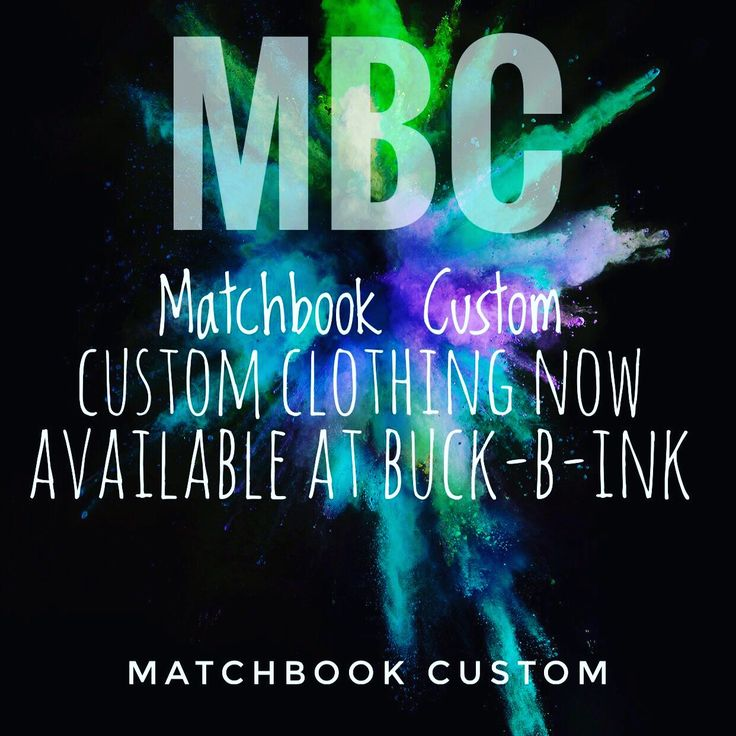 Matchbook Clothing available at Buck-B-Ink, Long Buckby!