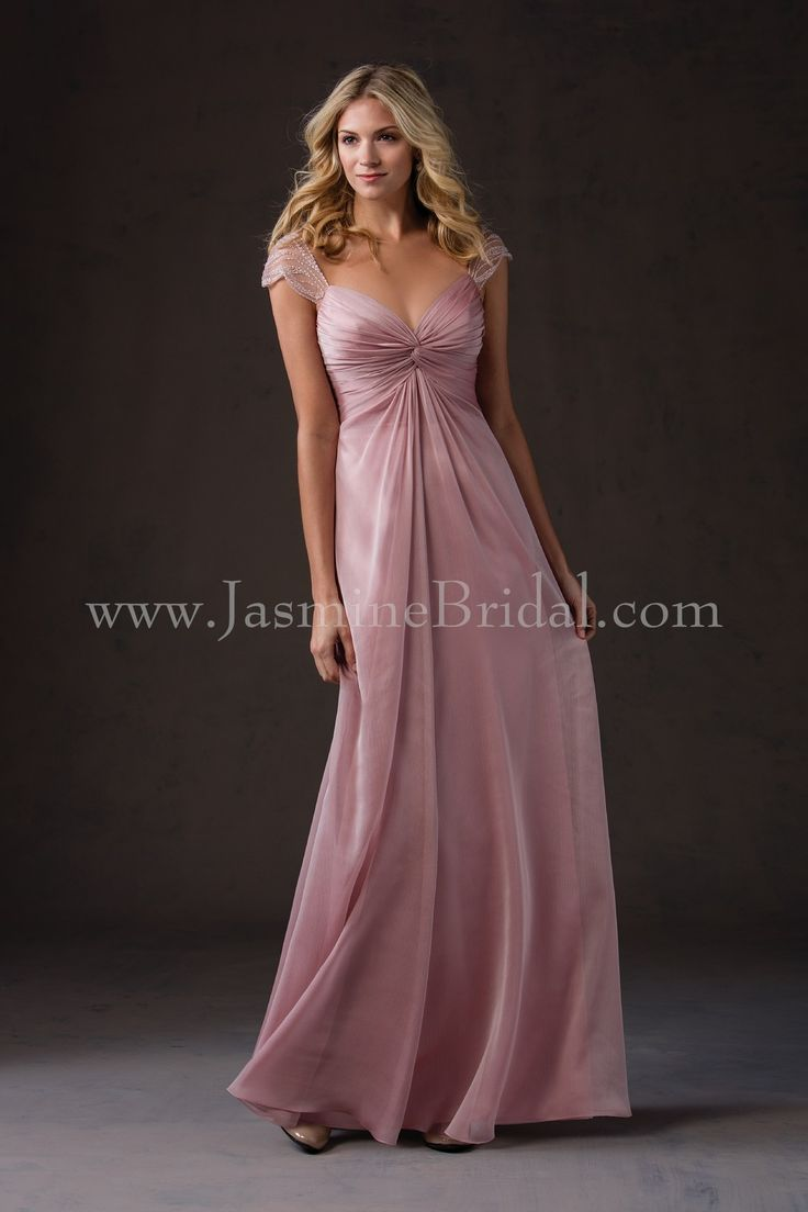 81 best belsoie b2 bridesmaid dresses images on pinterest jasmine bridal belsoie style in belsoie tiffany chiffon color misty pink ombrellifo Image collections