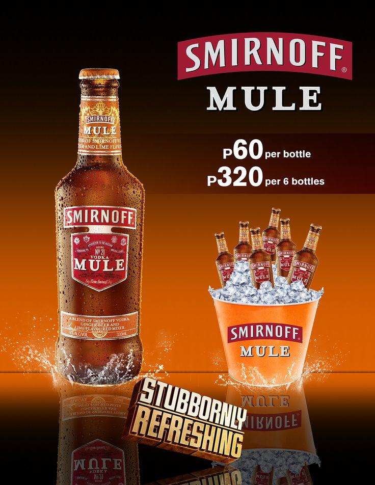 Smirnoff Mule Menu Layout (Philippines) on Behance in 2020
