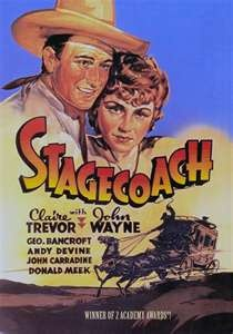 Stagecoach, classic 1939 Western with John Wayne, Claire Trevor, Thomas Mitchell, John Carradine...: Movie Posters, Wayne Movie, Stagecoach 1939, Comic Books, Claire Trevor, John Wayne, Westerns Movie, Favorite Movie, John Ford