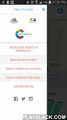 Invest In Manizales  Android App - playslack.com , Somos la Agencia de Promoción y Atracción de inversión de la ciudad de Manizales. Brindamos asesoría para que los inversionistas encuentren en Manizales las condiciones óptimas para crecer y de esta manera impulsar el desarrollo económico y social de nuestra ciudad.NUESTROS SERVICIOSLos inversionistas pueden encontrar en Invest in Manizales apoyo para cada etapa de su proceso de inversión.1. FASE DE EXPLORACIÓN.2. FASE DE INSTALACIÓN.3. FASE…