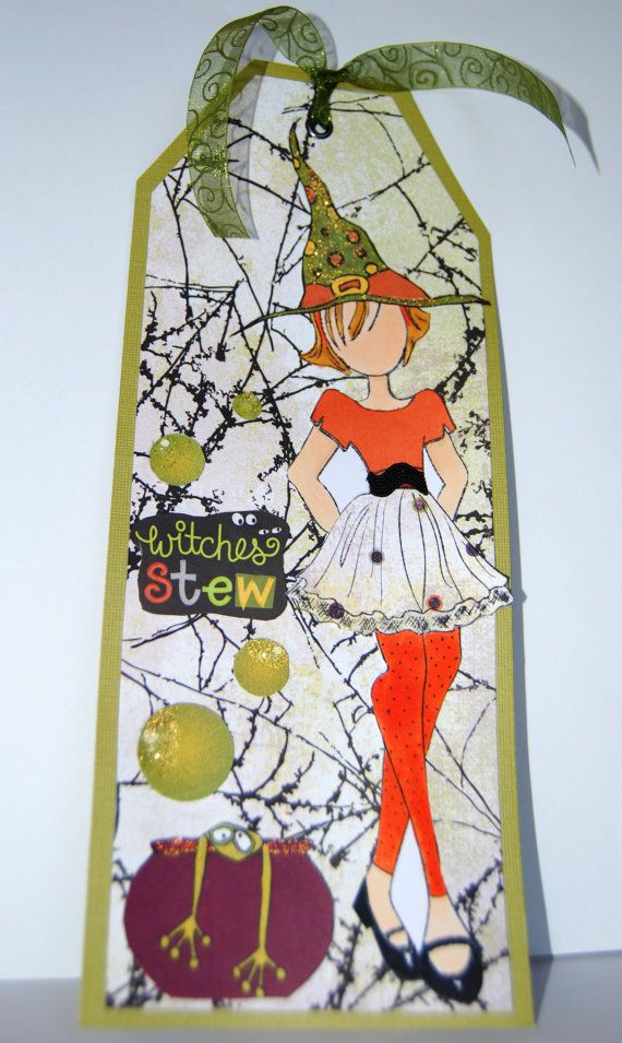 Halloween Prima Doll Tag Witches Stew Handmade by Smiles4Paper