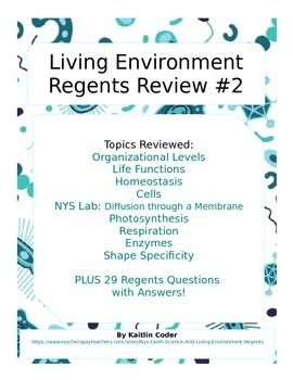 This Living Environment Regents Review Packet is the ...