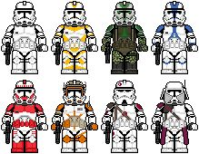 Lego'd Clone Troopers 2 by Ripplin.deviantart.com on @DeviantArt