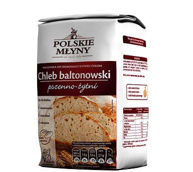 Chleb baltonowski pszenno-żytni. Gotowa mieszanka, która pozwoli nam stworzyć domowy chleb baltonowski pszenno-żytni o wyjątkowym smaku. Jedno opakowanie wystarczy do przygotowania dwóch bochenków chleba, które zachwycą smakiem oraz chrupkością.