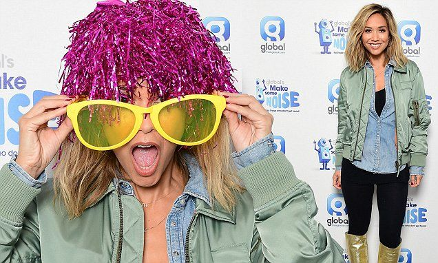Myleene Klass dons funny wig as she supports Global's Make Some Noise