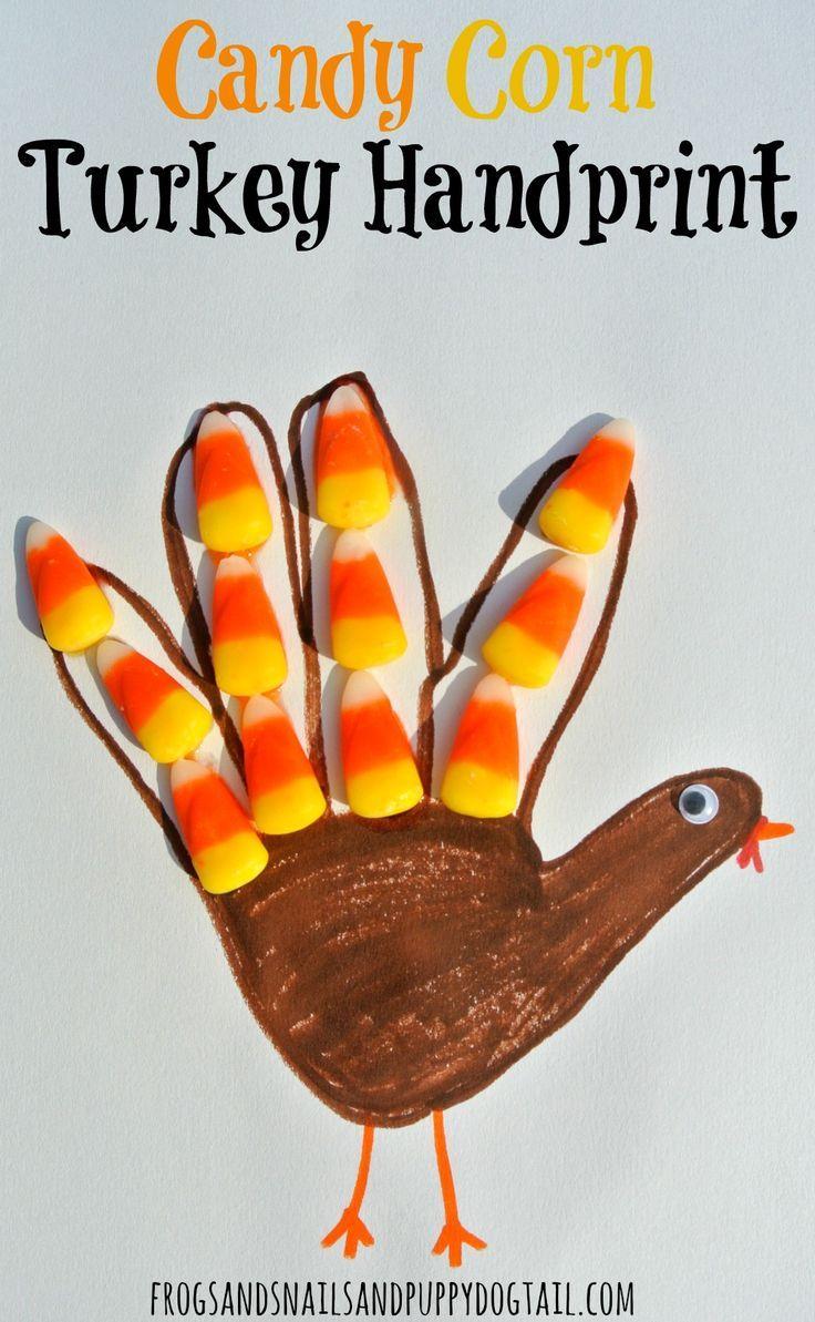 Candy Corn Turkey- Classic Handprint Art for Thanksgiving - FSPDT