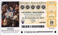 Décimo de Lotería de Navidad 2015. Foto de Riselo.
