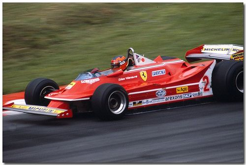 Gilles Villeneuve Ferrari 312T5 F1. 1980 British GP Brands Hatch.(Explore)