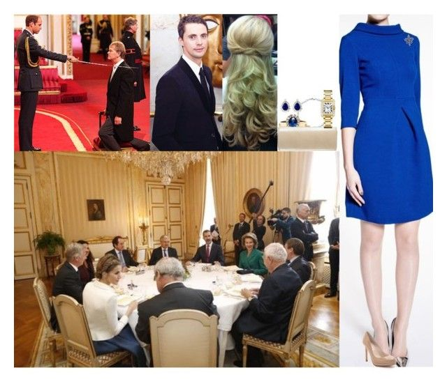"""Attending a luncheon at the Royal Palace of Brussels and afterwards watching Henry receive the Order of Leopold"" by lady-maud ❤ liked on Polyvore featuring Tiffany & Co., L.K.Bennett, Elsa Peretti, Russell & Bromley, Kenneth Jay Lane and Cartier"