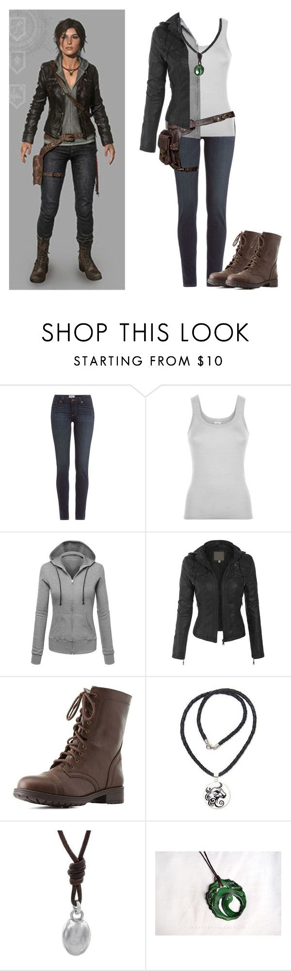 """Lara Croft [Rise of the Tomb Raider]"" by musiclover55 ❤ liked on Polyvore featuring Paige Denim, Holster, Charlotte Russe and NOVICA"