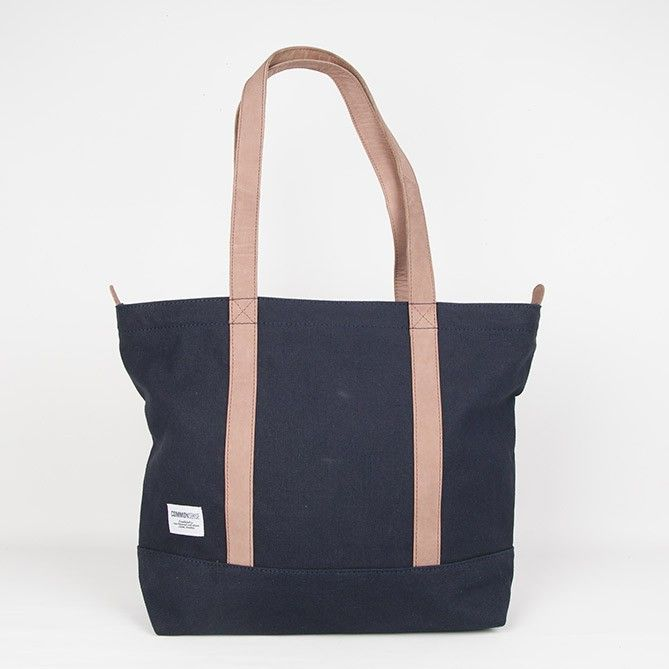 Robin / Tote zipper. navy blue