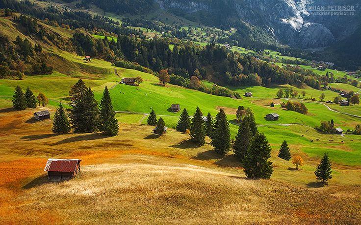 Swiss landscape.