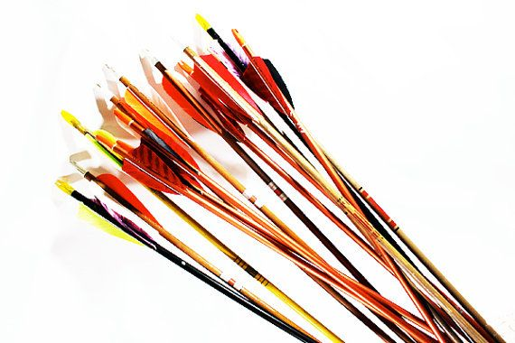 Vintage Arrows, Archery Arrows, Multicolored Arrows; $7.95 each; confirming bulk orders
