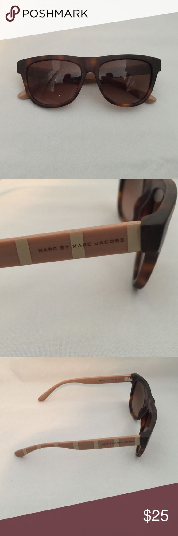 Marc by Marc Jacobs tortoise sunglasses Marc by Marc Jacobs tortoise wayfarer frames. Striped sides with Marc by Marc Jacobs on the side. Never been worn. Marc by Marc Jacobs Accessories Sunglasses