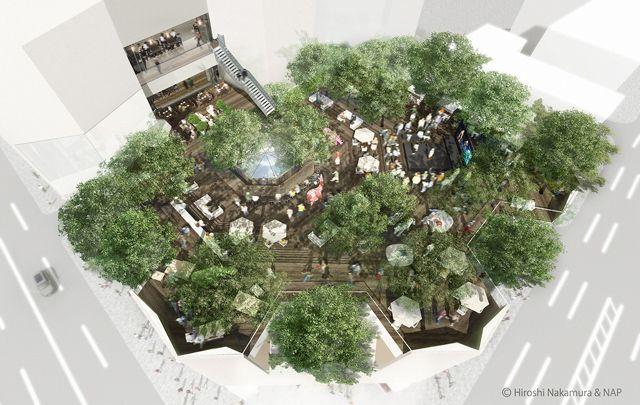 表参道・原宿の中心、GAP跡地に新たなランドマーク「東急プラザ 表参道原宿」2012年春に開業の写真3
