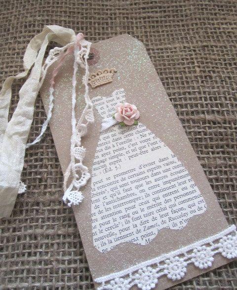 Invitation?  Paper dress tag book?  Wedding?  Possibilities...