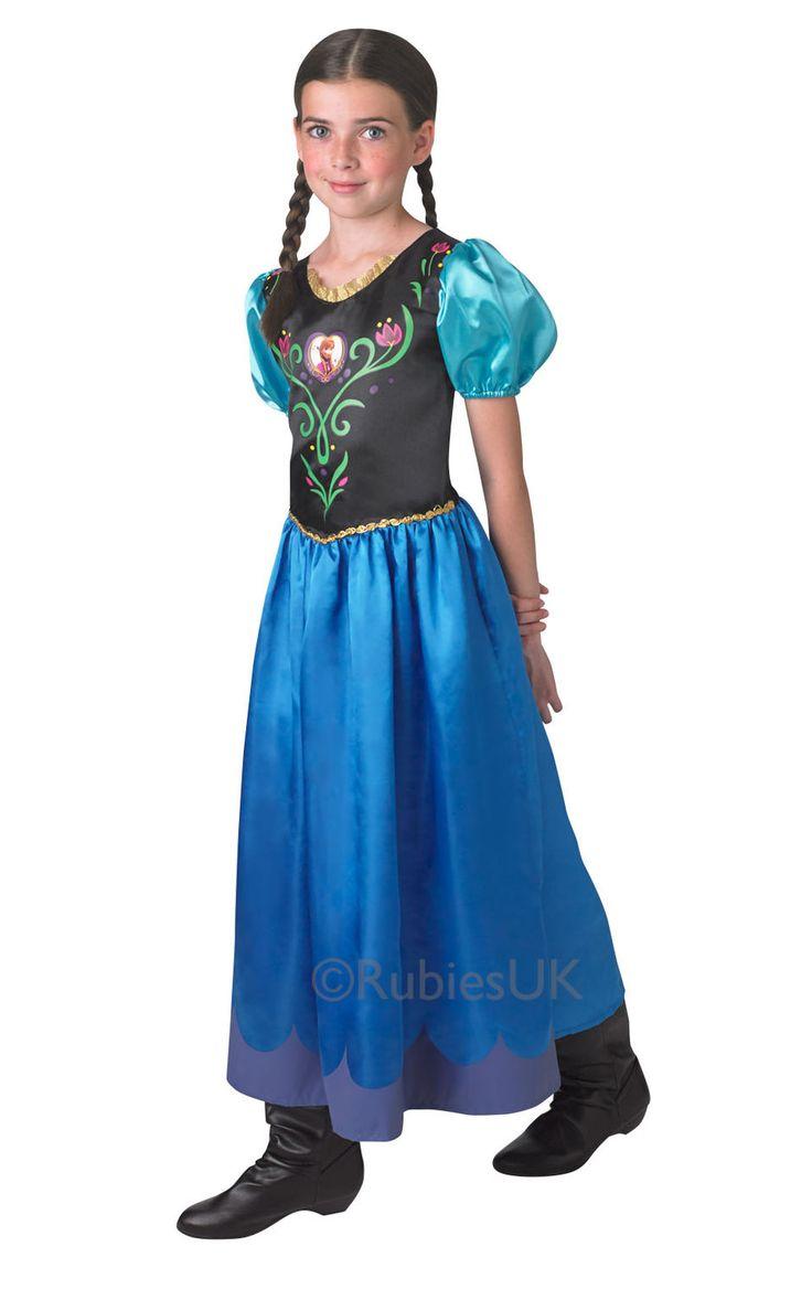 Frozen prinsessa Anna.  Tuote on lisensoitu Disney Frozen -naamiaisasu.