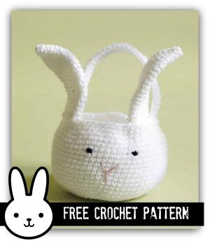 Easter Bunny Basket (or Bag) - Free Crochet Pattern + How to Crochet a Tawashi Easter Egg