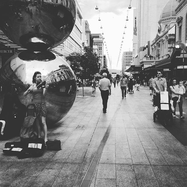 """Enjoying Rundle Mall and its buskers, Adelaide! #ThisIsSouthAustralia #UniquelyAdelaide #Adelaide #RundleMall #travel #buskers #ljojlo"" Photo taken by @ljojlo_trvlblog on Instagram, pinned via the InstaPin iOS App! http://www.instapinapp.com (10/12/2015)"