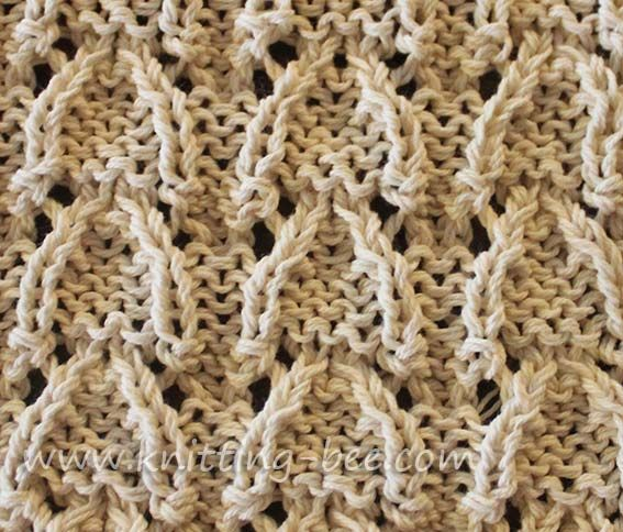 Vaulted Arched Lace Knitting Stitch Knitting Pinterest