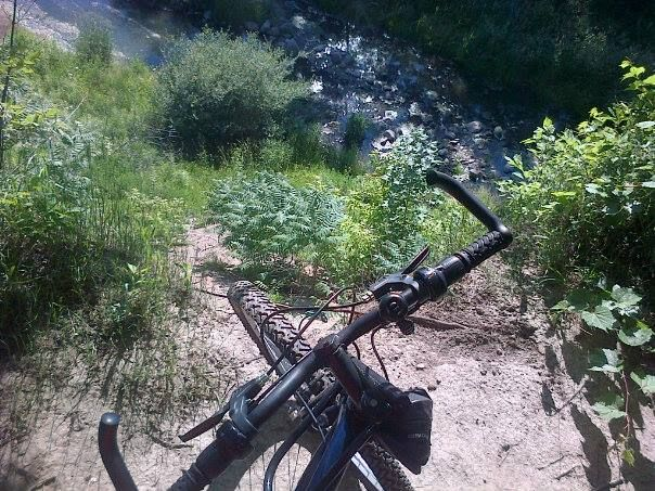 Hamilton, Ontario's Red Hill Valley trails - South of Lawrence - 40 foot drop